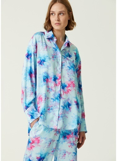 MSGM MSGM  Desenli Pijama Gömlek 101602547 Mavi